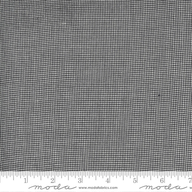 Low Volume Wovens - Houndstooth in Charcoal - Jen Kingwell for Moda Fabrics - 18201-22 - Half Yard