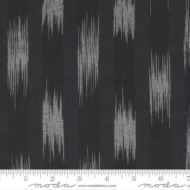 Low Volume Wovens - Ikat in Charcoal - Jen Kingwell for Moda Fabrics - 18201-29 - Half Yard