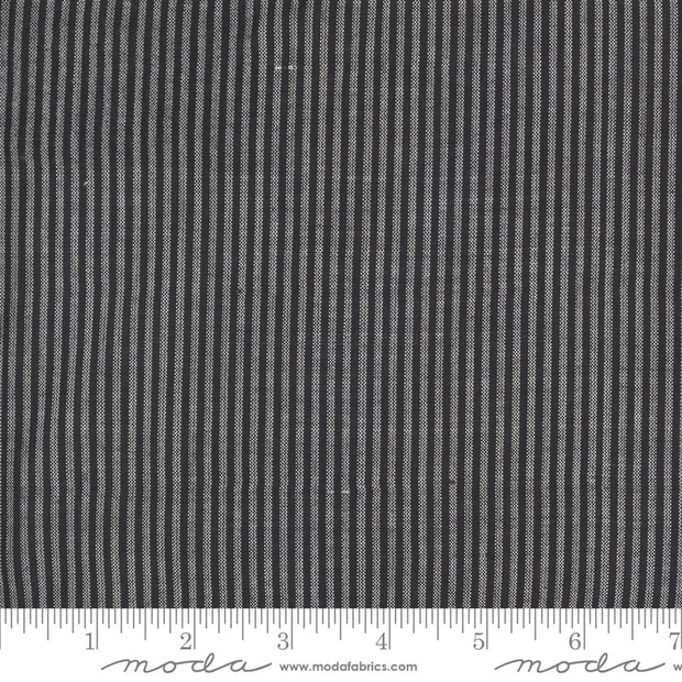 Low Volume Wovens - Fine Stripe in Charcoal - Jen Kingwell for Moda Fabrics - 18201-25 - Half Yard