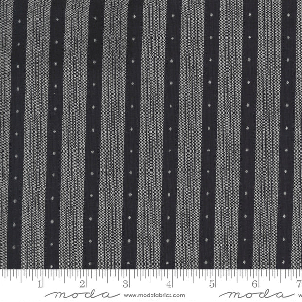 Low Volume Wovens - Big Stripe in Charcoal - Jen Kingwell for Moda Fabrics - 18201-27 - Half Yard