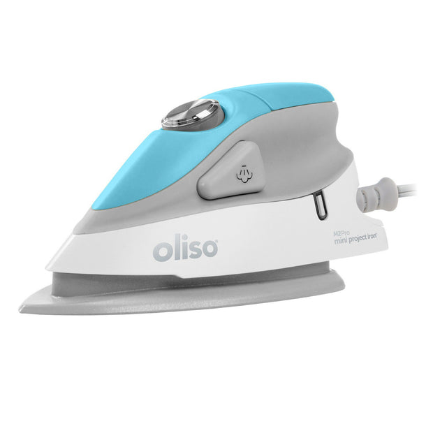 Oliso - Turquoise Mini Iron with Trivet - M2PRO-TUR.