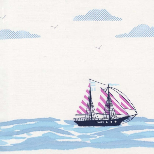 Out to Sea - Sail Away in Bloom - Michael Miller Fabrics - DC5620-BLOM-D - Half Yard