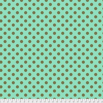 Tula Pink All Stars Pom Pom Dot in Green Agave