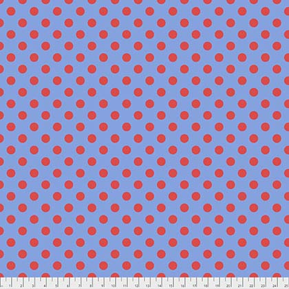 Tula Pink All Stars Pom POm Dot in Lupine Blue