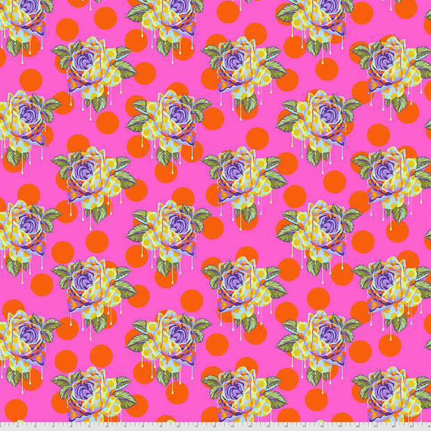 Curiouser & Curiouser - Painted Roses in Daydream - Tula Pink for Free Spirit - PWTP161.DAYDR - Half Yard