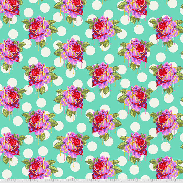 Curiouser & Curiouser - Painted Roses in Wonder - Tula Pink for Free Spirit - PWTP161.WONDE - Half Yard