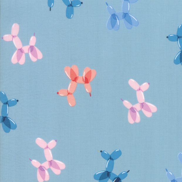 Pop - Balloon in Candy Blue - Rashida Coleman Hale for Ruby Star Society - RS1002 15 - Half Yard