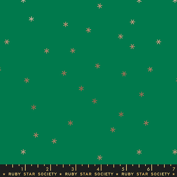 Stay Gold - Spark in Metallic Evergreen - Melody Miller for Ruby Star Society - RS0005-53M - Half Yard