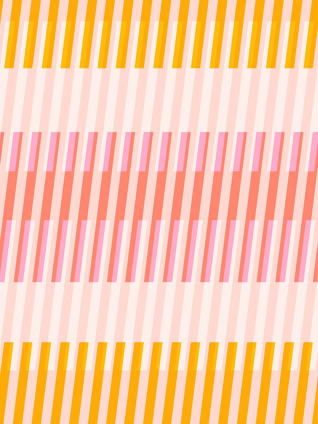 Clementine - Fruity Stripe in Sunshine - Melody Miller for Ruby Star Society - RS0008 18 - Half Yard