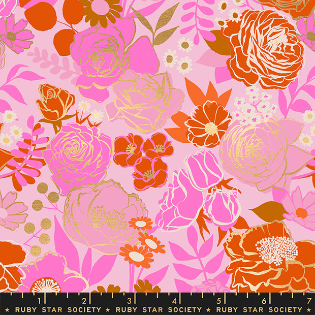 PREORDER - Rise - Grow in Peony - Melody Miller for Ruby Star Society - RS0012 12M - Half Yard