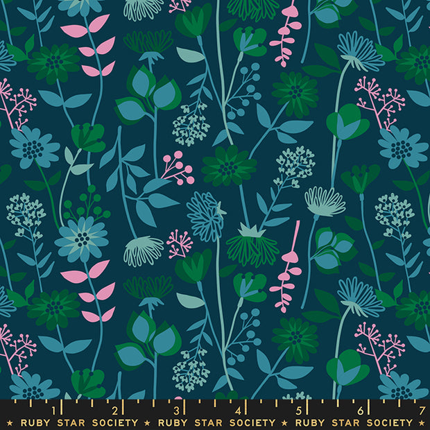 Stay Gold - Meadow in Peacock - Melody Miller for Ruby Star Society - RS0021-15 - Half Yard