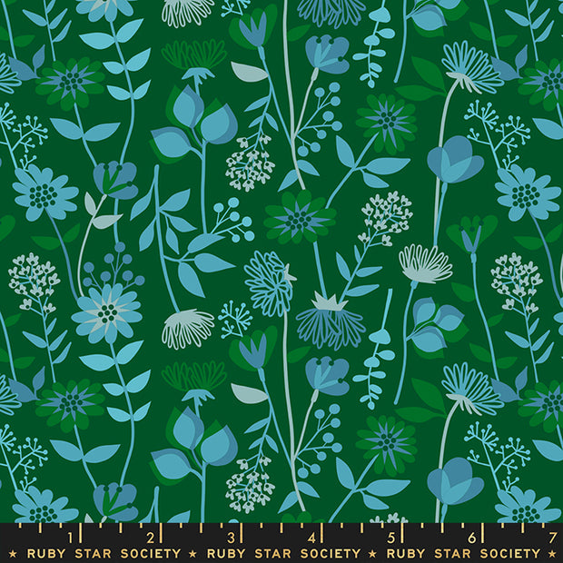Stay Gold - Meadow in Jade - Melody Miller for Ruby Star Society - RS0021-16 - Half Yard