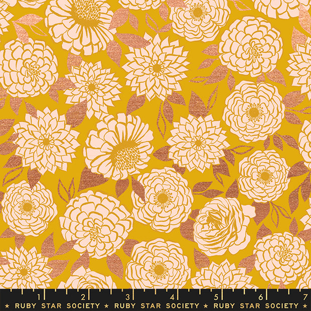 Stay Gold - Sparkle in Metallic Goldenrod - Melody Miller for Ruby Star Society - RS0022-11M - Half Yard