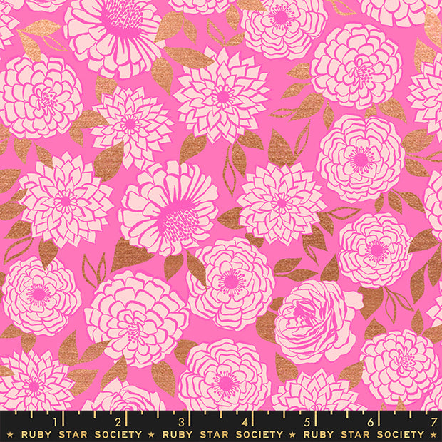 Stay Gold - Sparkle in Metallic Lipstick - Melody Miller for Ruby Star Society - RS0022-14M - Half Yard