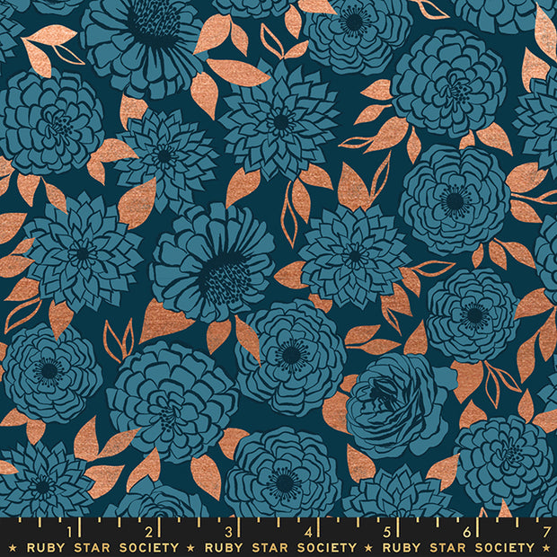 Stay Gold - Sparkle in Metallic Peacock - Melody Miller for Ruby Star Society - RS0022-15M - Half Yard