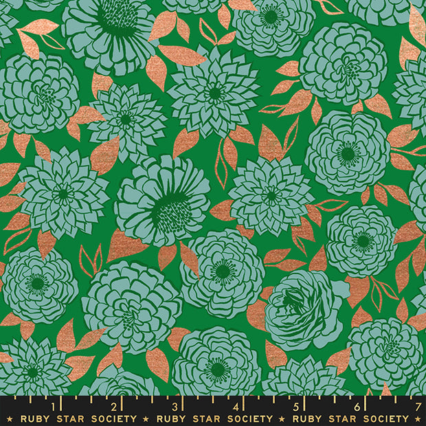 Stay Gold - Sparkle in Metallic Evergreen - Melody Miller for Ruby Star Society - RS0022-17M - Half Yard