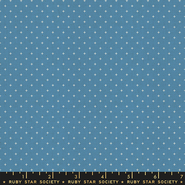 Heirloom - Add it Up in Chambray - Alexia Abegg for Ruby Star Society - RS4005-47 - Half Yard
