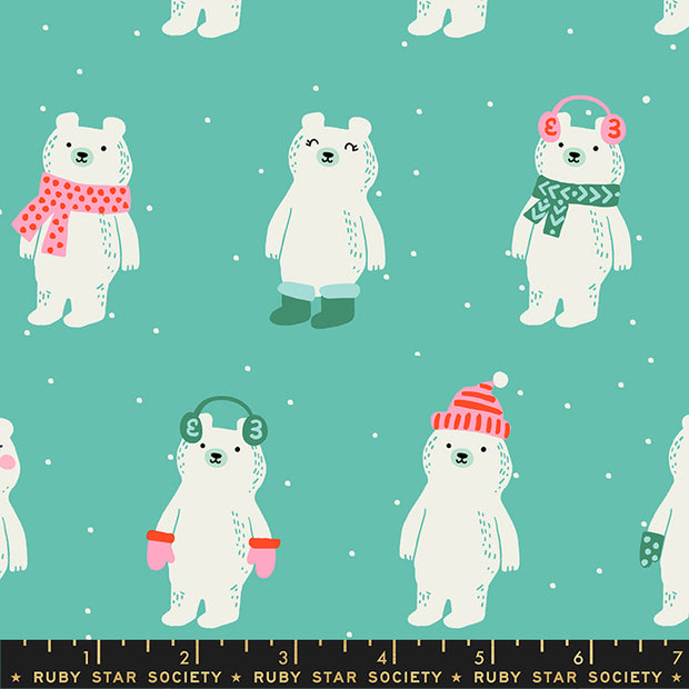 Flurry - Snow Bears in Icebox - Ruby Star Society - RS5028 11 - Half Yard