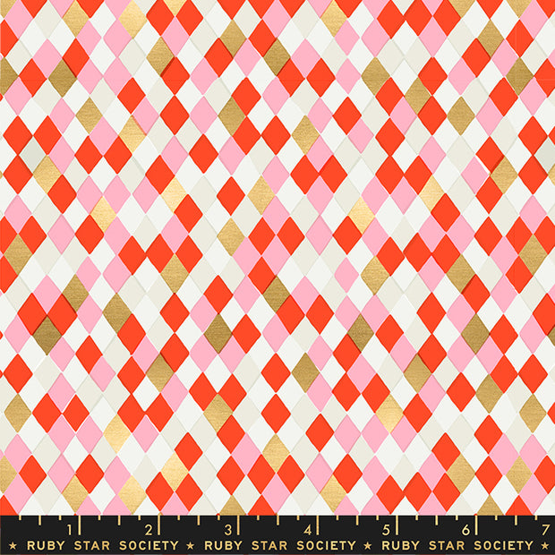 Flurry - Gift Wrap in Ruby - Ruby Star Society - RS5032 12M - Half Yard