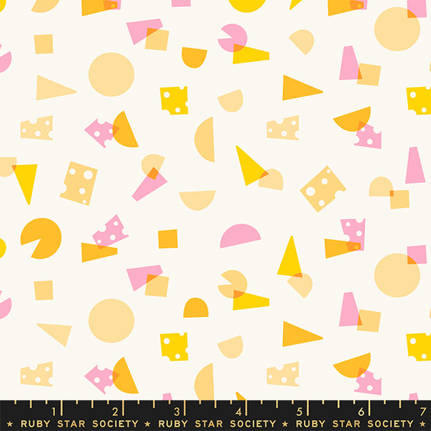 Food Group - Say Cheese in Sweet Cream - Ruby Star Society - RS5039-11 - Half Yard