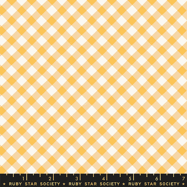 Food Group - Painted Gingham in Butternut - Ruby Star Society - RS5044-11 - Half Yard
