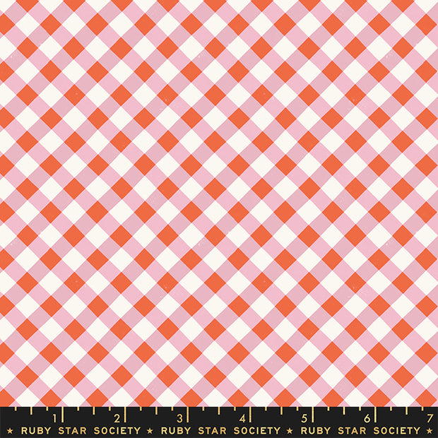 Food Group - Painted Gingham in Kiss - Ruby Star Society - RS5044-13 - Half Yard