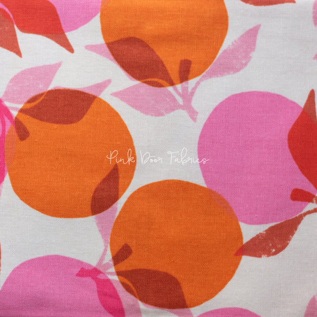 RSS Cotton Canvas - Peaches in Orange - Ruby Star Society - RS5022 11L - Half Yard