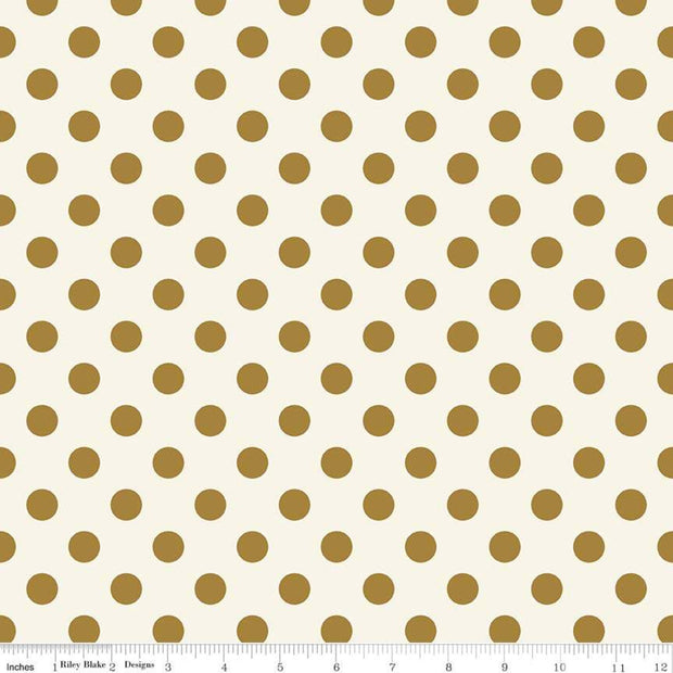 Riley Blake Basics - In Bloom Dot in Gold - Riley Blake Designs - SC8075 GOLD - Half Yard