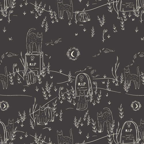 Spooky 'n Sweet - Purranormal Activity - AGF Studio by Art Gallery Fabrics - SNS-13009 - Half Yard