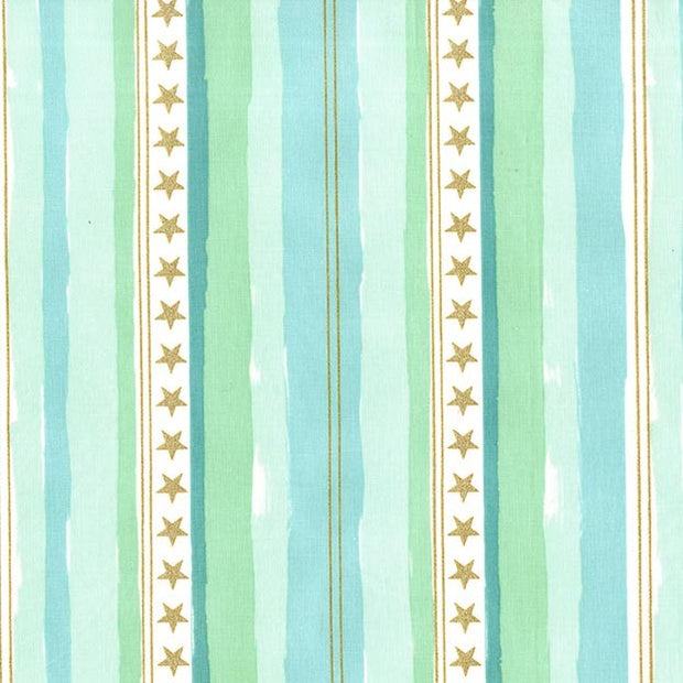 Magic - Stars and Stripes in Aqua - Michael Miller Fabrics - MD7195-AQUA-D - Half Yard