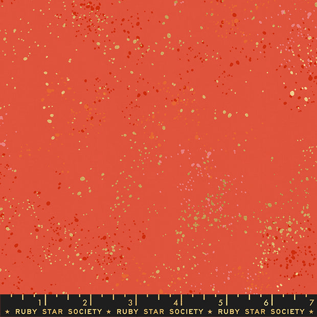 2020 Speckled Metallic - Speckled Metallic in Festive - Ruby Star Society - RS5027 75M - Half Yard