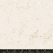 Speckled Metallic - Speckled Metallic in White Gold - Ruby Star Society - RS5027 14M - Half Yard