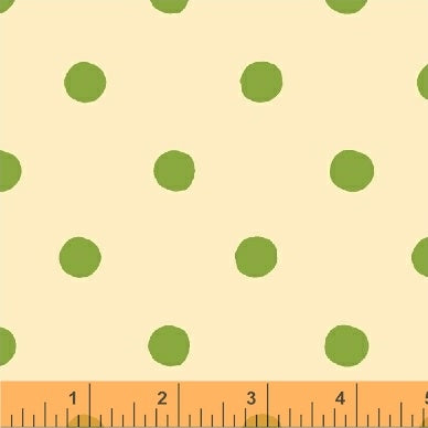 Sugarplum - Dots in Green - Heather Ross for Windham Fabrics - 50169-5 - 1/2 Yard