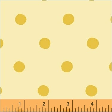 Sugarplum - Dots in Yellow - Heather Ross for Windham Fabrics - 50169-7 - 1/2 Yard