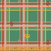 Sugarplum - Plaid in Aqua - Heather Ross for Windham Fabrics - 50168-8 - 1/2 Yard