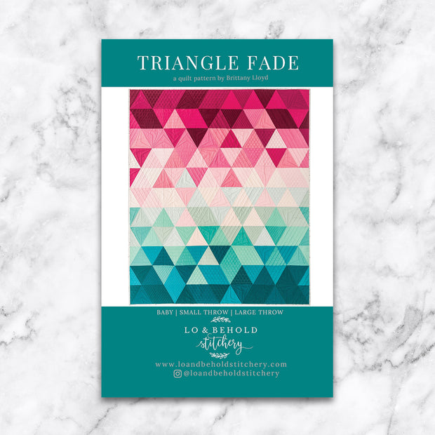Triangle Fade - Lo and Behold Stitchery - Paper Pattern - LBS 112