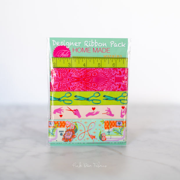Renaissance Ribbons - Tula Pink Homemade Morning - Designer Ribbon Pack - DP-90MORNING