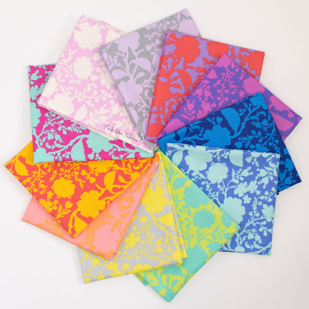 True Colors 2020 - Wildflower Fat Quarter Bundle of 11 Pieces - Tula Pink for Free Spirit - PWTP149.FQ