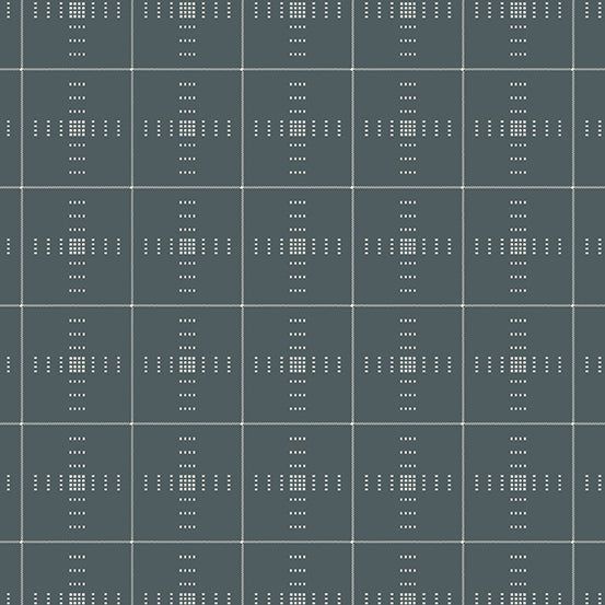 Entwine - Plaid in Dusty Grey - Guicy Guice for Andover - WV-PLAID-C - Half Yard