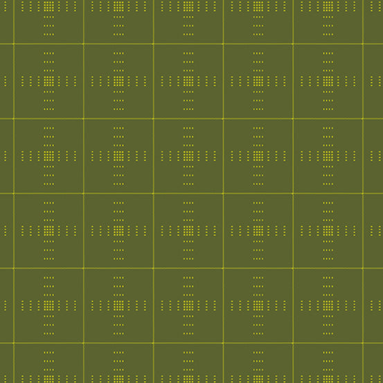 Entwine - Plaid in Olive - Guicy Guice for Andover - WV-PLAID-V - Half Yard