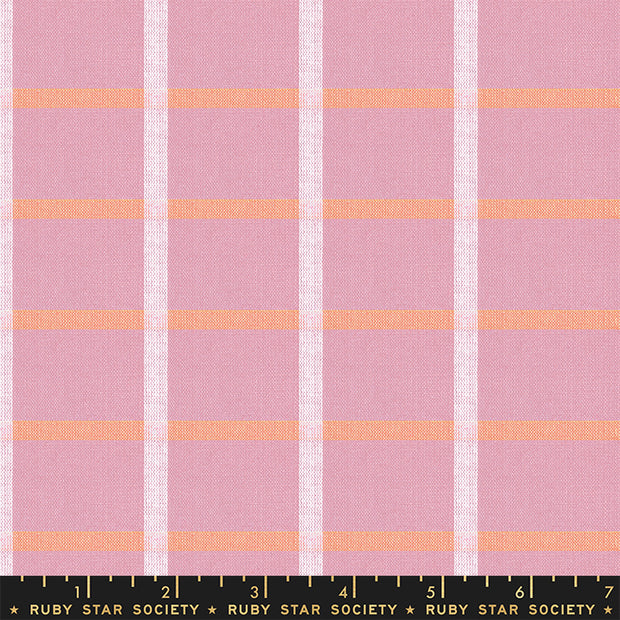 Warp & Weft Wovens - Plaid in Lavender - Alexia Abegg for Ruby Star Society - RS4014-11 - Half Yard