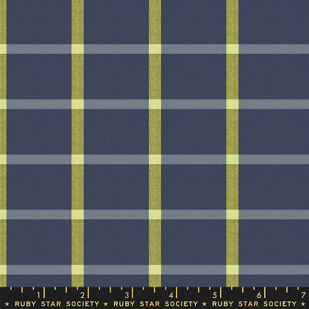 Warp & Weft Wovens - Plaid in Navy - Alexia Abegg for Ruby Star Society - RS4014-13 - Half Yard