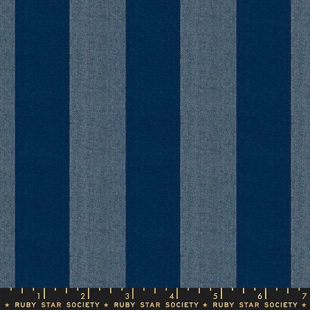 Warp & Weft Wovens - Stripe in Navy - Alexia Abegg for Ruby Star Society - RS4033-12 - Half Yard