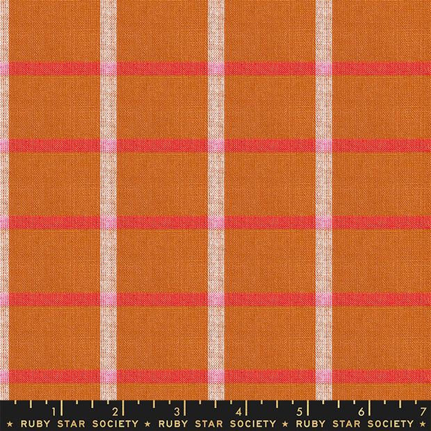 Warp & Weft Wovens - Plaid in Saddle - Alexia Abegg for Ruby Star Society - RS4014-12 - Half Yard
