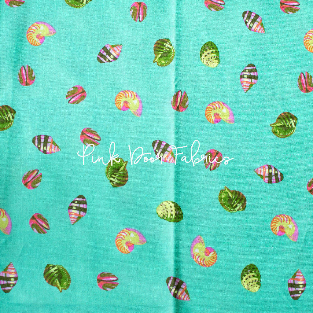 Zuma - She Sells Seashells in Sea Glass - Tula Pink for Free Spirit - PWTP121.SEAGL - Half Yard