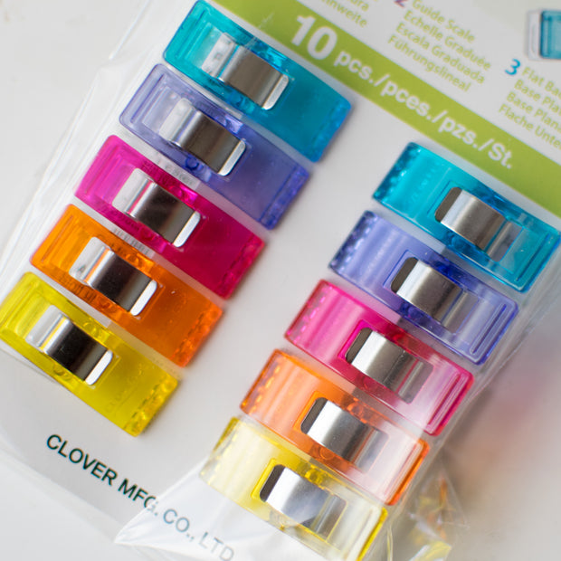 Clover - Wonder Clips in 5 Assorted Colors - 10 pieces - 3185 - 1 pkg
