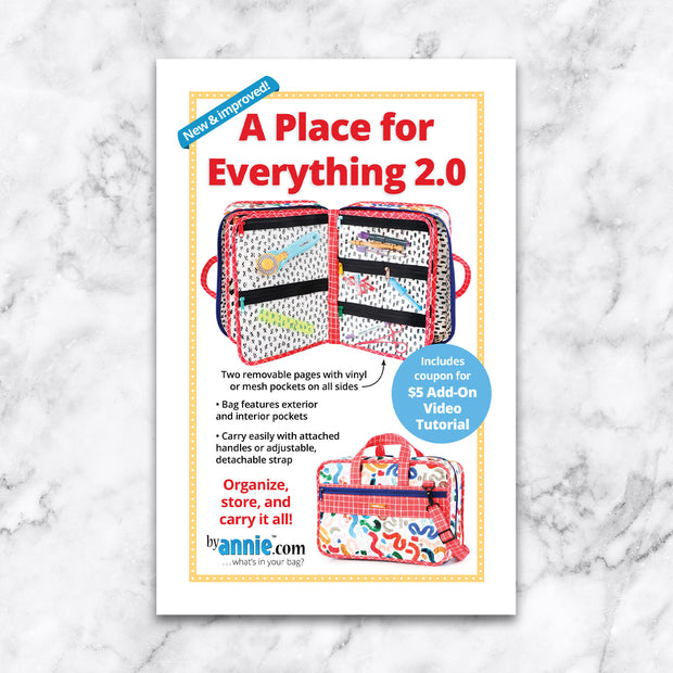 A Place for Everything 2.0 - Pattern by By Annie - Paper Pattern - PBA207-2