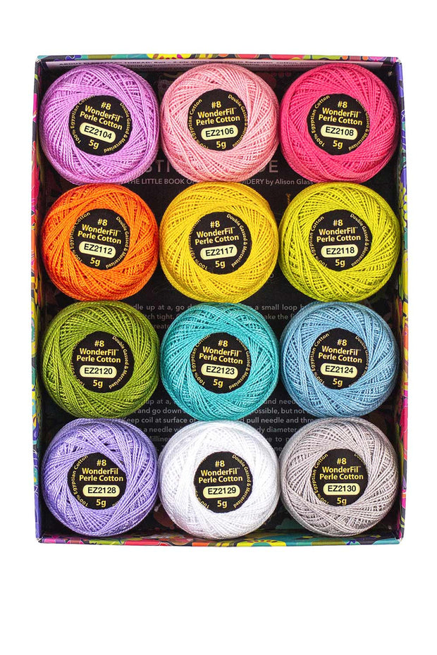 Alison Glass + WonderFil Perle Cotton Thread Box - Sun