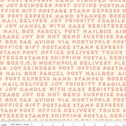 Christmas Delivery - Text in Cream - Carta Bella Paper Co. for Riley Blake - C7335-CREAM - Half Yard