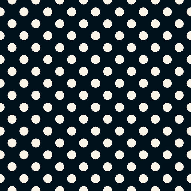 Riley Blake Basics - Dots in Black - Riley Blake Designs - C8075-BLACK - Half Yard